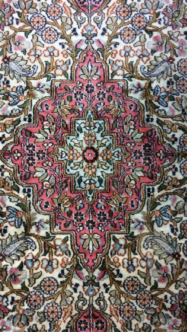 Handmade Intricately Detailed Silk Rug W Fringes - 3