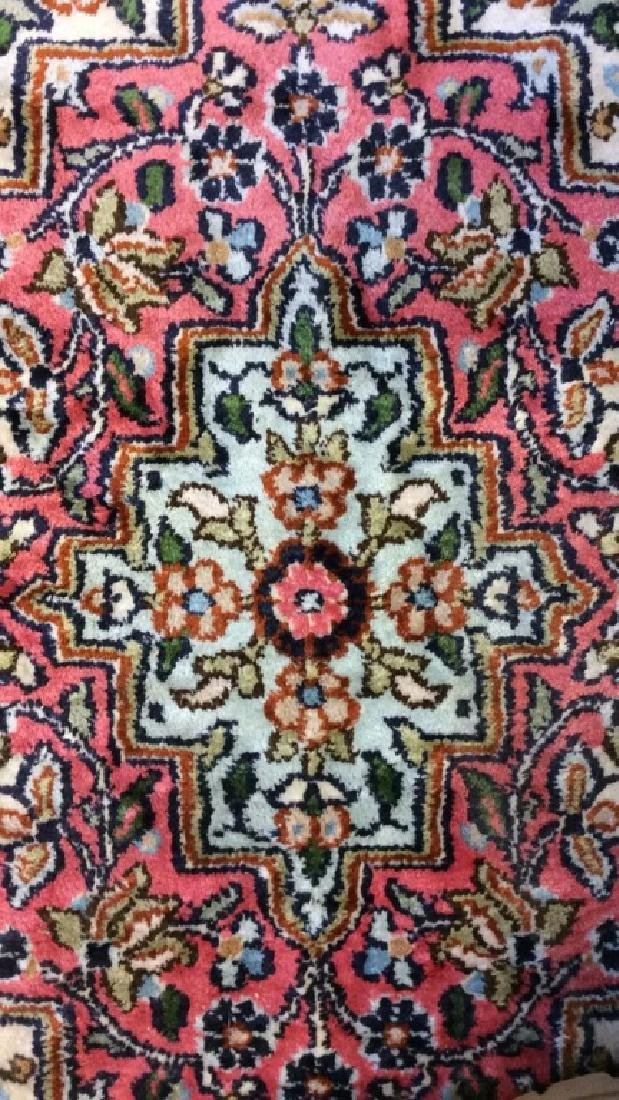 Handmade Intricately Detailed Silk Rug W Fringes - 4