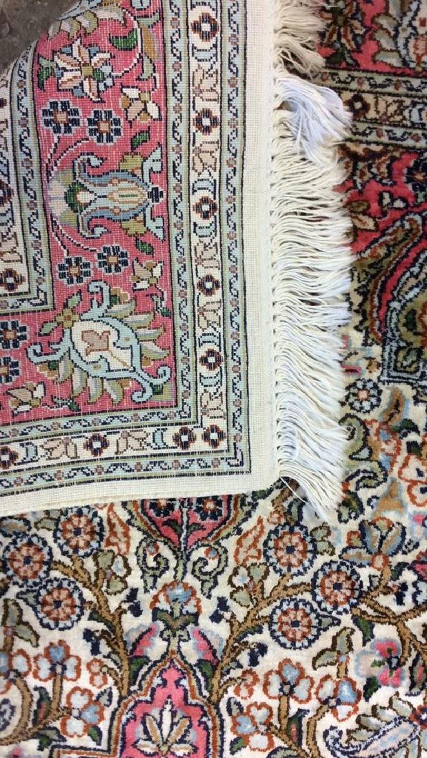 Handmade Intricately Detailed Silk Rug W Fringes - 6