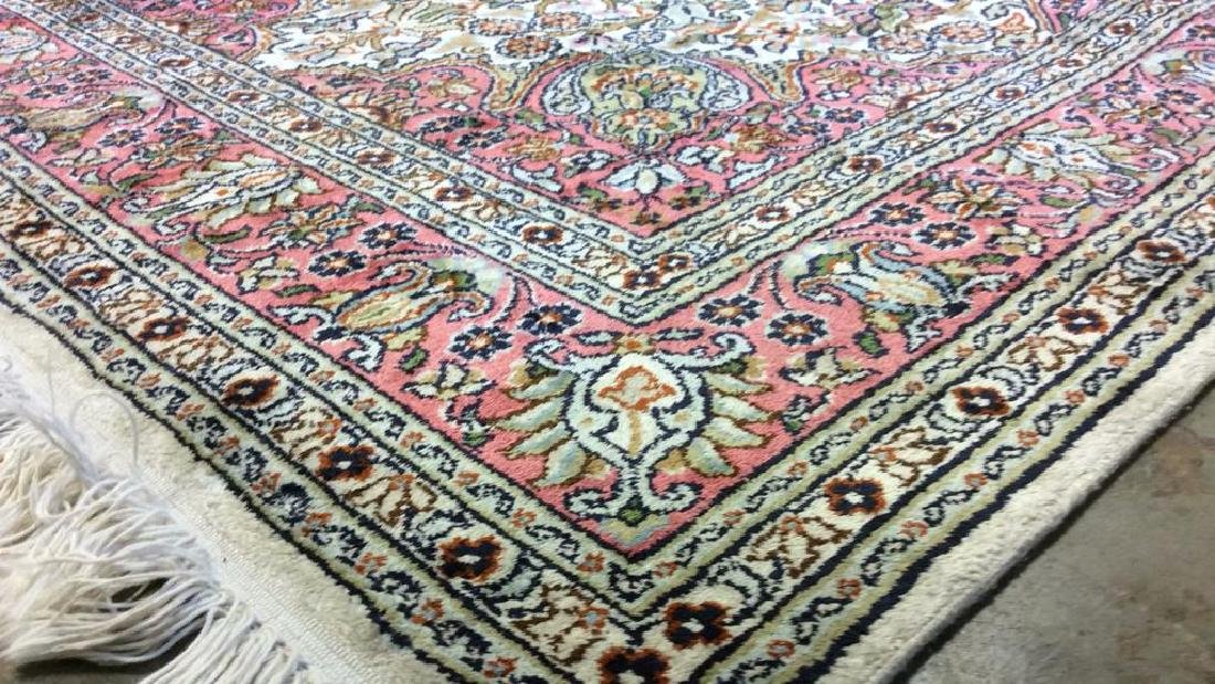 Handmade Intricately Detailed Silk Rug W Fringes - 8