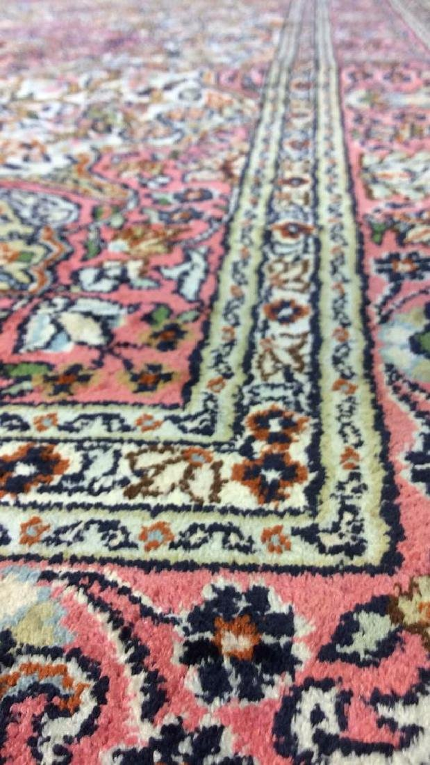 Handmade Intricately Detailed Silk Rug W Fringes - 9