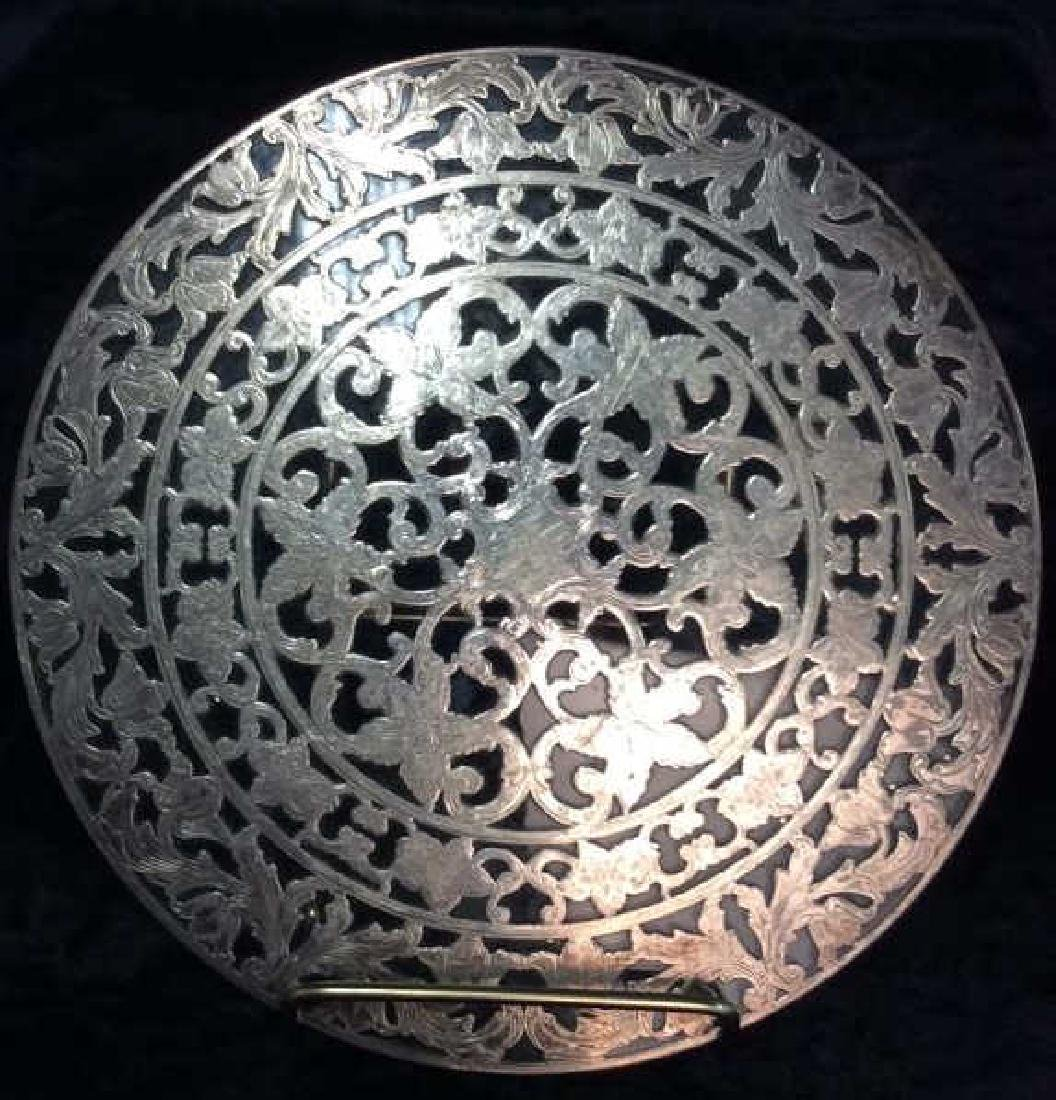 WEBSTER Trivet Sterling Silver Floral Filigree