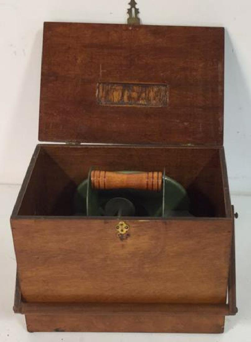 Antique Mechanical Card Shuffler w Wood Box - 10