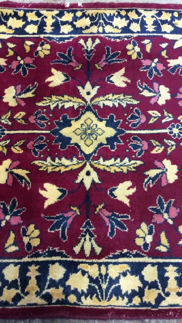 Handmade Floral Detailed Wool Rug - 10