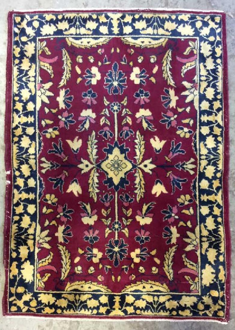 Handmade Floral Detailed Wool Rug