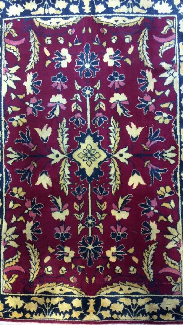 Handmade Floral Detailed Wool Rug - 2