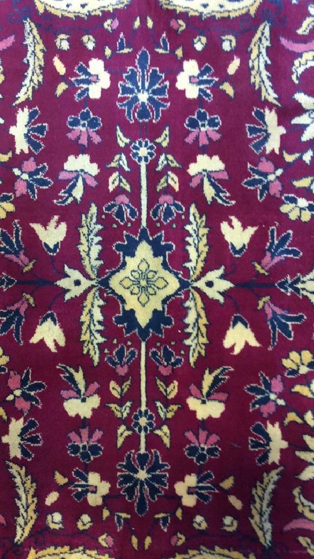 Handmade Floral Detailed Wool Rug - 3