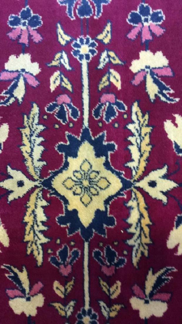 Handmade Floral Detailed Wool Rug - 4