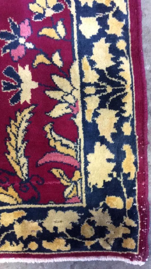 Handmade Floral Detailed Wool Rug - 5