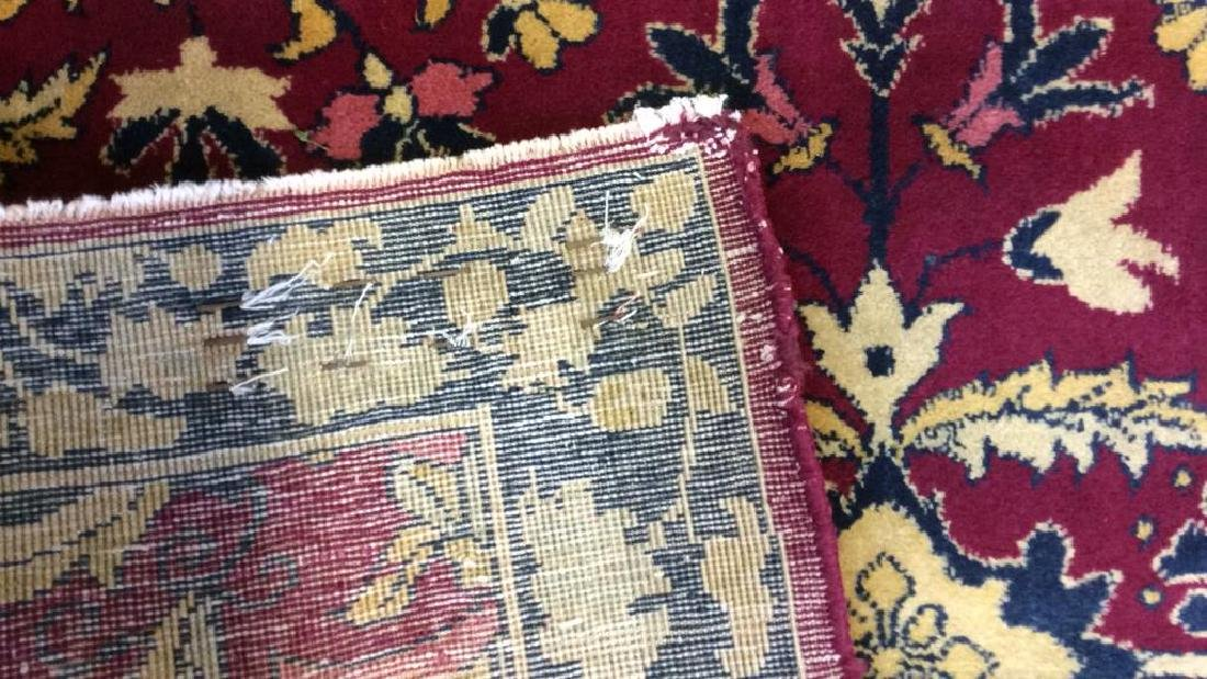 Handmade Floral Detailed Wool Rug - 6