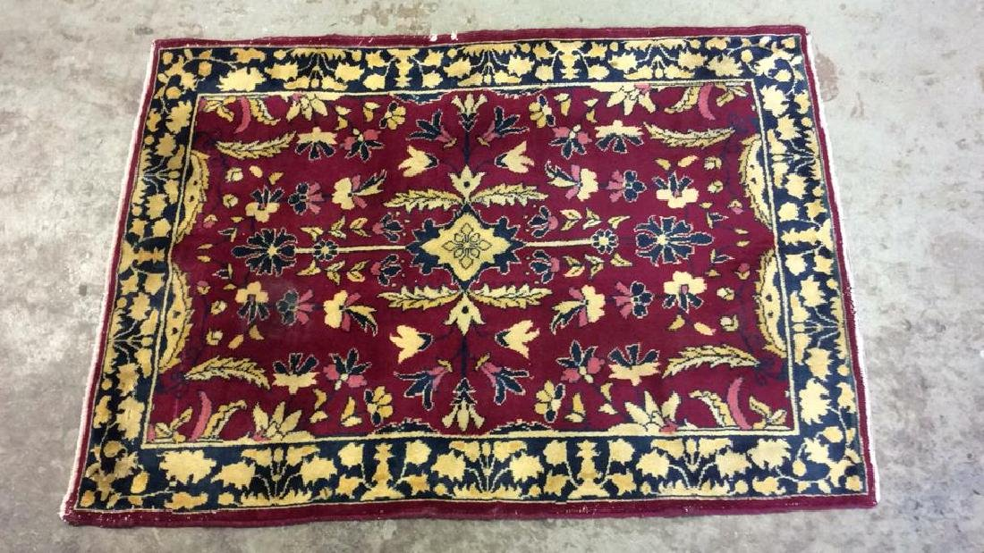 Handmade Floral Detailed Wool Rug - 7