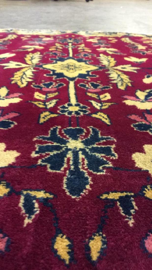 Handmade Floral Detailed Wool Rug - 9