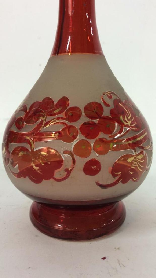 Art Glass Amber Toned Decanter - 3