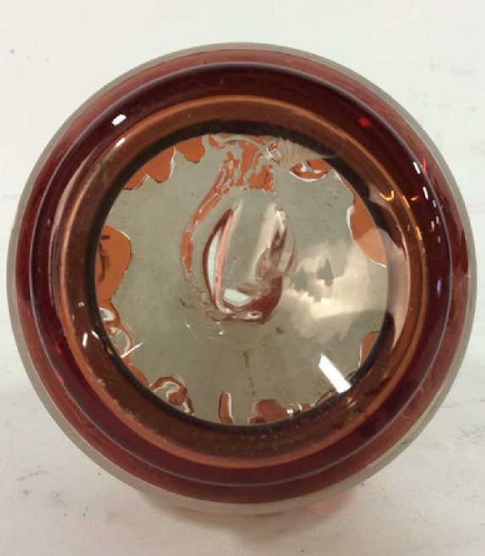 Art Glass Amber Toned Decanter - 9