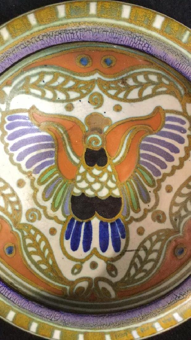Vintage Gouda Pottery Bowl Egyptian - 2