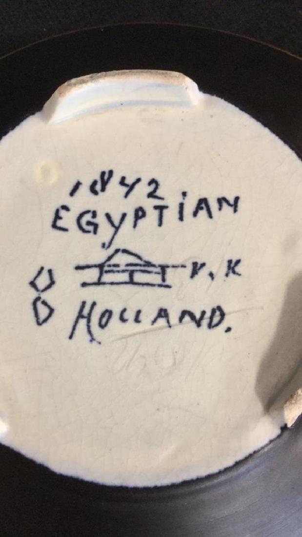 Vintage Gouda Pottery Bowl Egyptian - 5