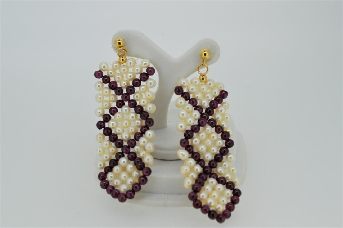 Ladies Hand-Crafted Beaded Pierced Earrings