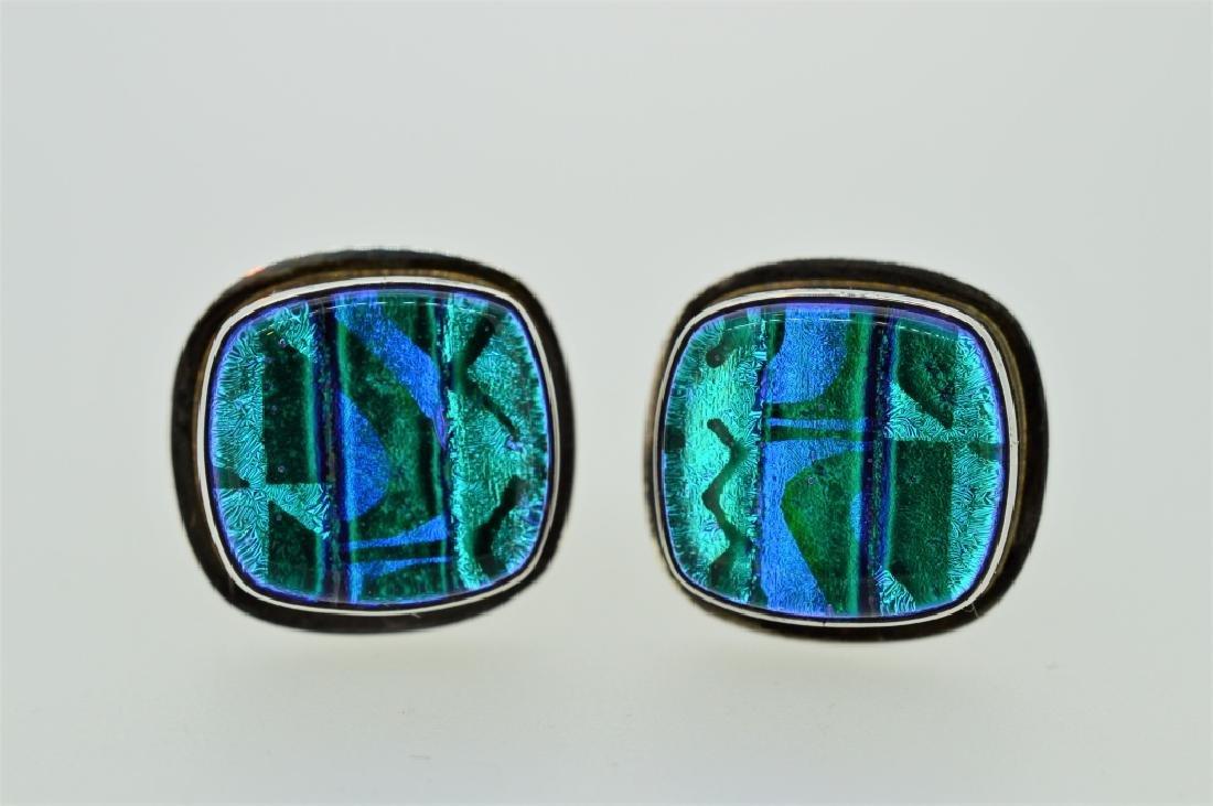 Men's Sterling Silver & Abalone Shell Cufflinks