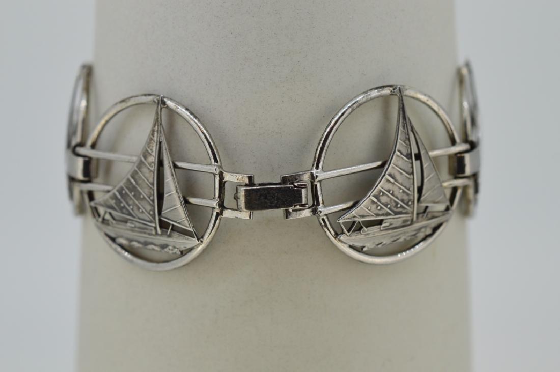 """Ladies 7"""" Sterling Silver Nautical Bracelet - 2"""