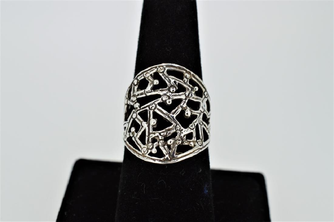 Sterling Silver Entwined Vine Ring