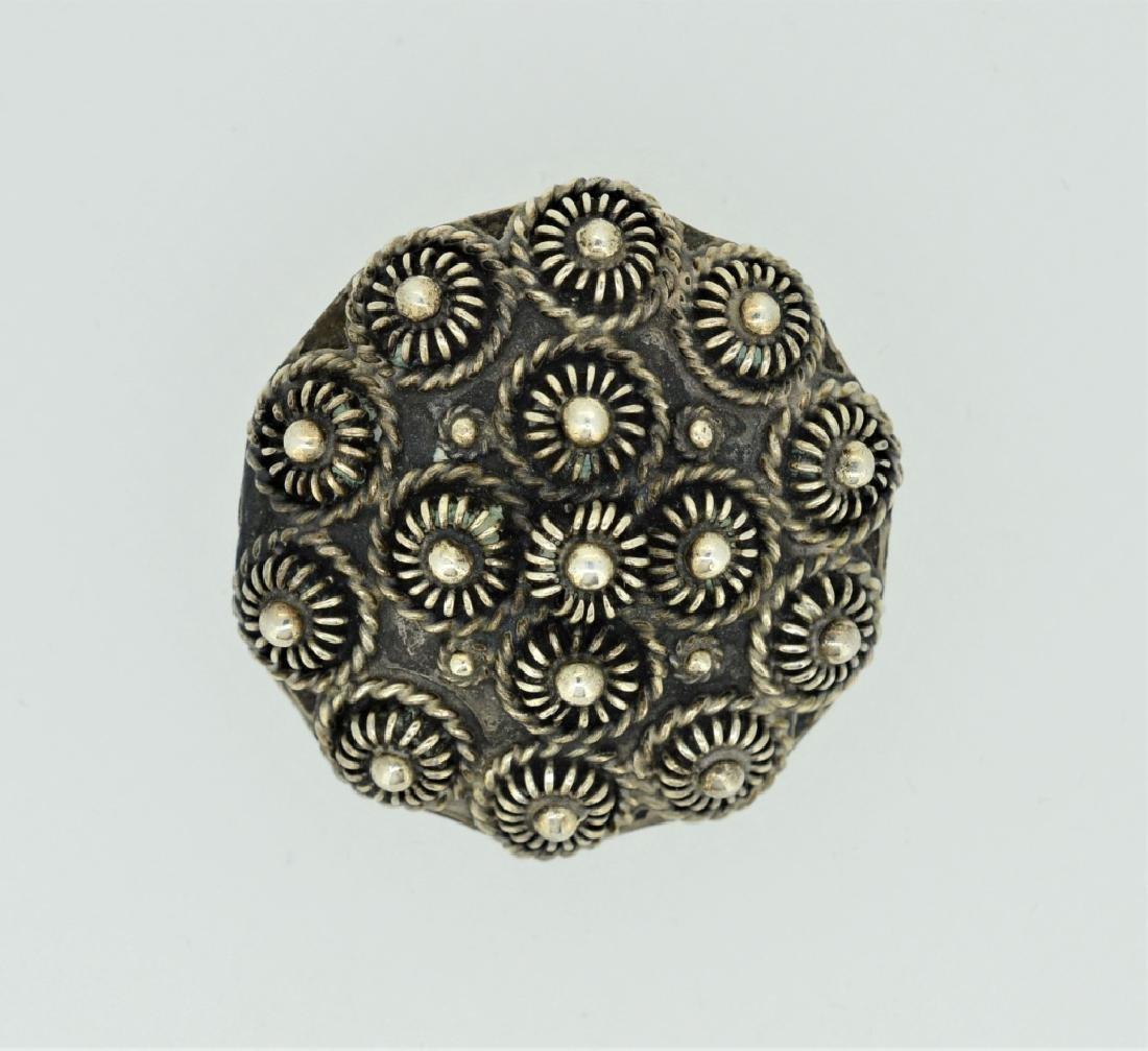Sterling Silver Floral Pin/Pendant Made in Mexico
