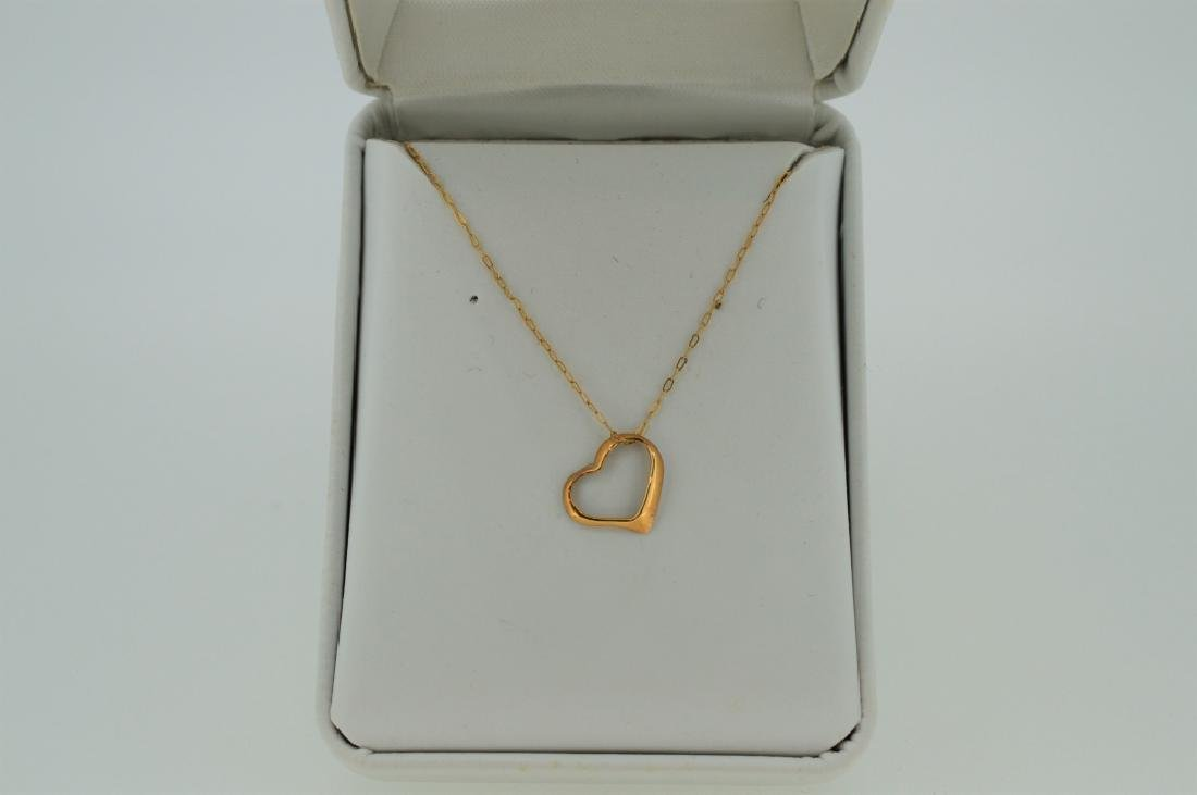 "16"" Gold Open Heart Necklace"