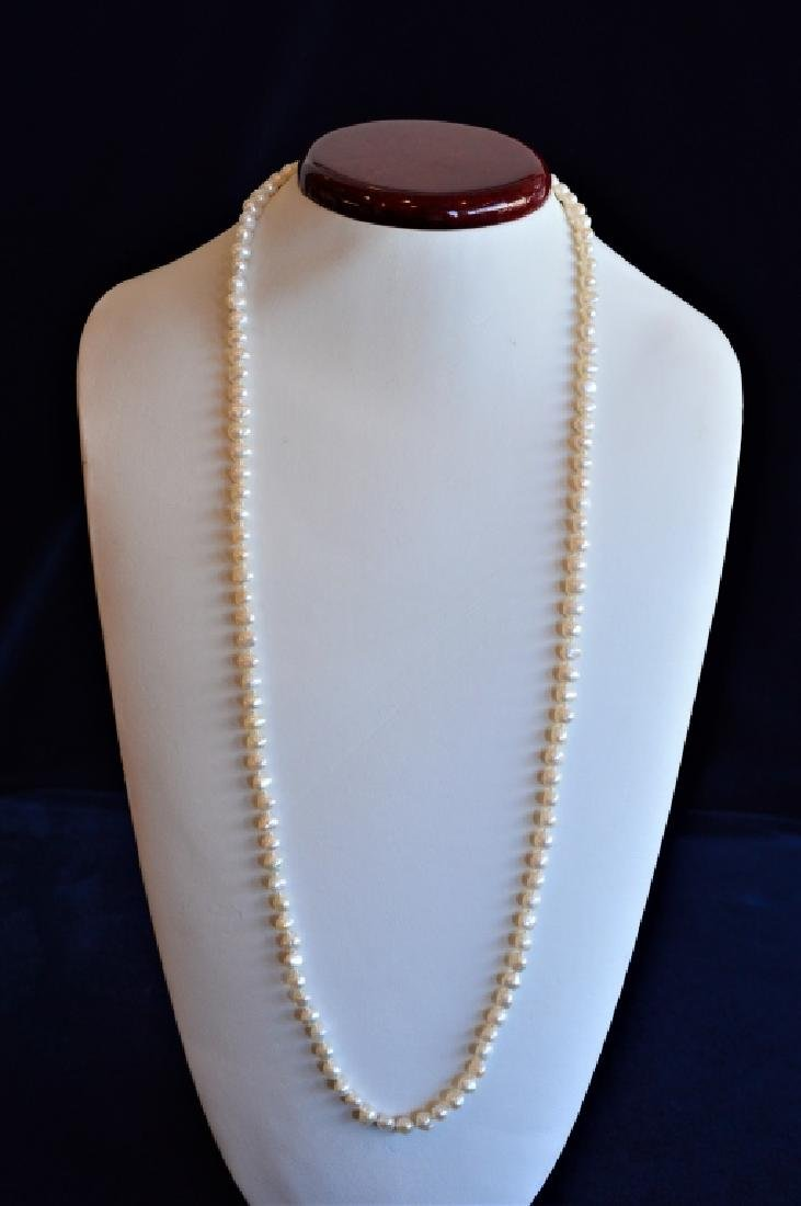 "Classic 30"" Single Strand 5.5mm Pearl Necklace"