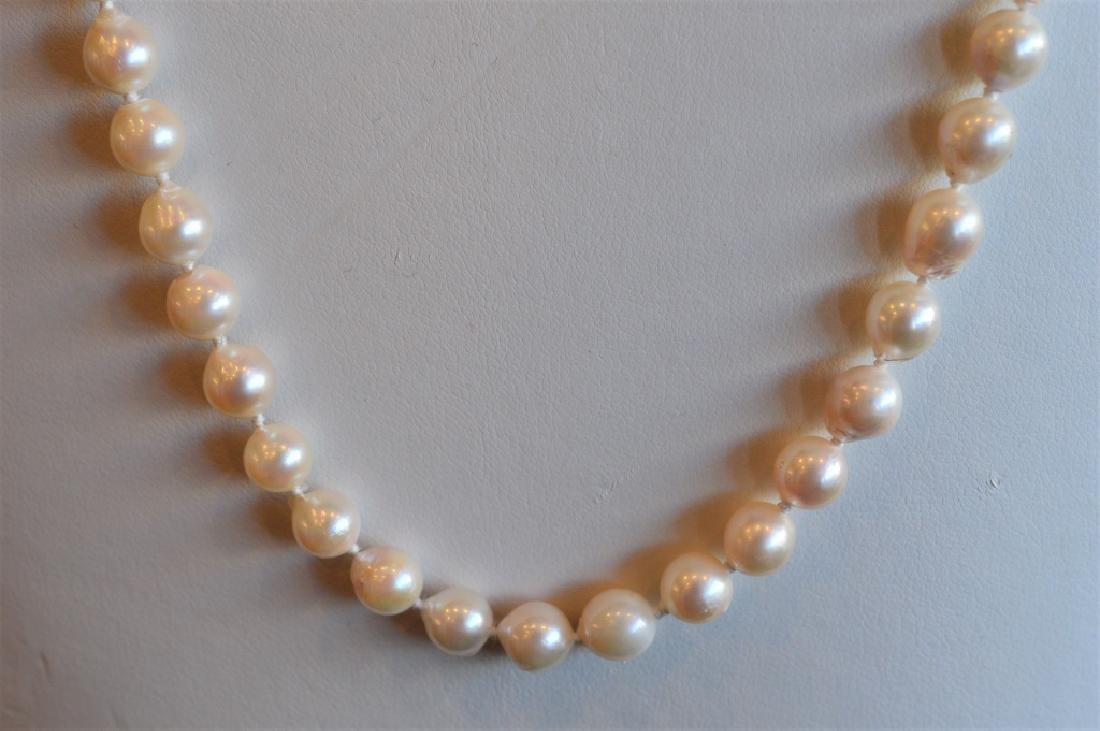 "24"" Single Strand Natural Baroque 7.5mm Pearl Neck - 2"