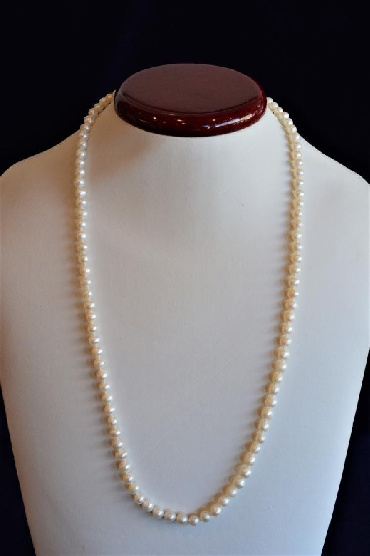 "24"" Single Strand 6mm Pearl Necklace"