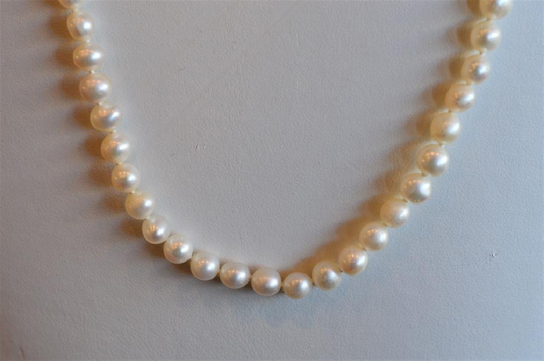"24"" Single Strand 6mm Pearl Necklace - 2"