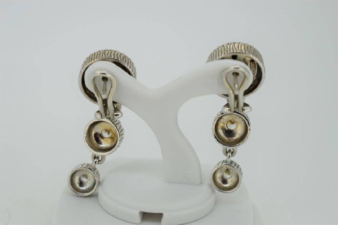 Judith Ripka Sterling Triple Circle Drop Earrings - 2