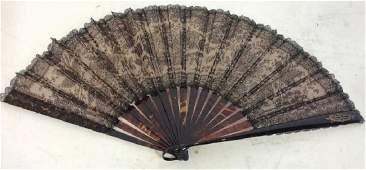 Vintage Possibly Antique Lace Ladies Fan