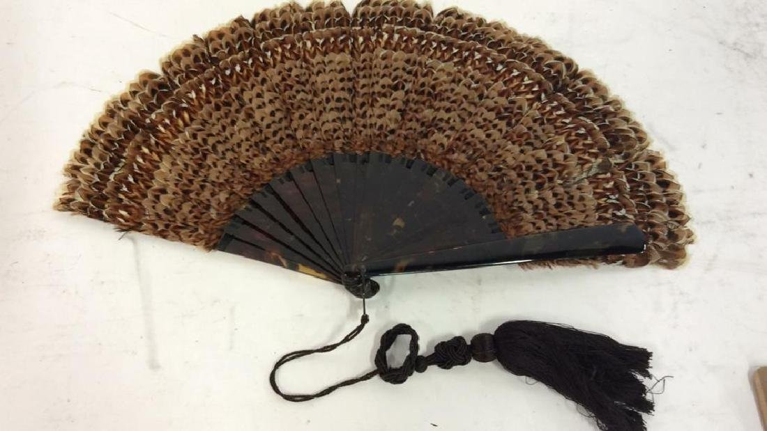 Vintage/ Antique Feathered Ladies Fan