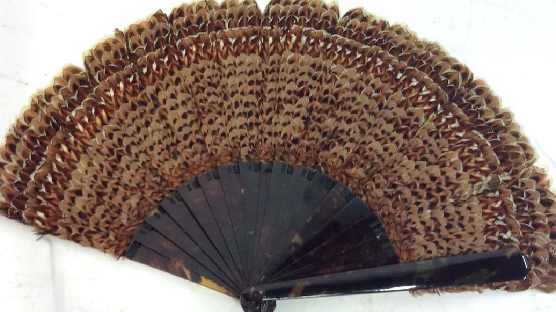 Vintage/ Antique Feathered Ladies Fan - 2