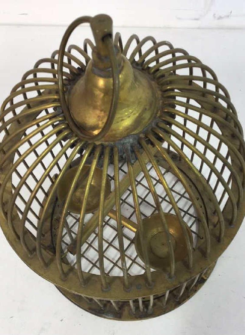 Vintage or Antique Brass Domed Bird Cage - 5