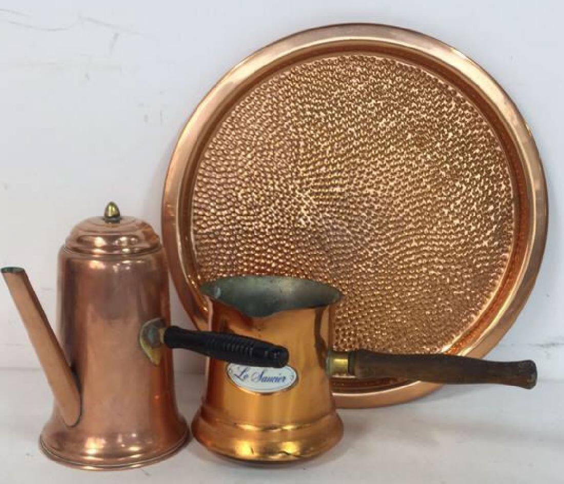 Vintage Copper Kitchen Pots Implements