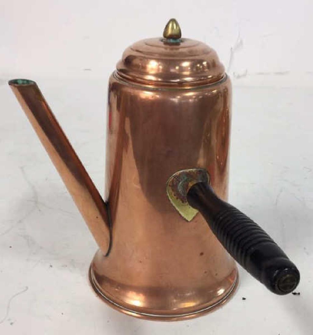 Vintage Copper Kitchen Pots Implements - 4