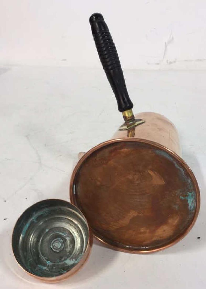Vintage Copper Kitchen Pots Implements - 5