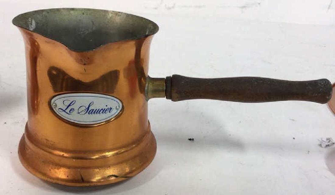 Vintage Copper Kitchen Pots Implements - 9