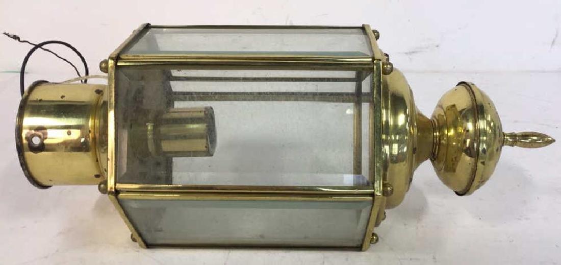 Brass Beveled Glass Vintage Ceiling Lantern