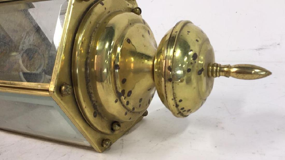 Brass Beveled Glass Vintage Ceiling Lantern - 4