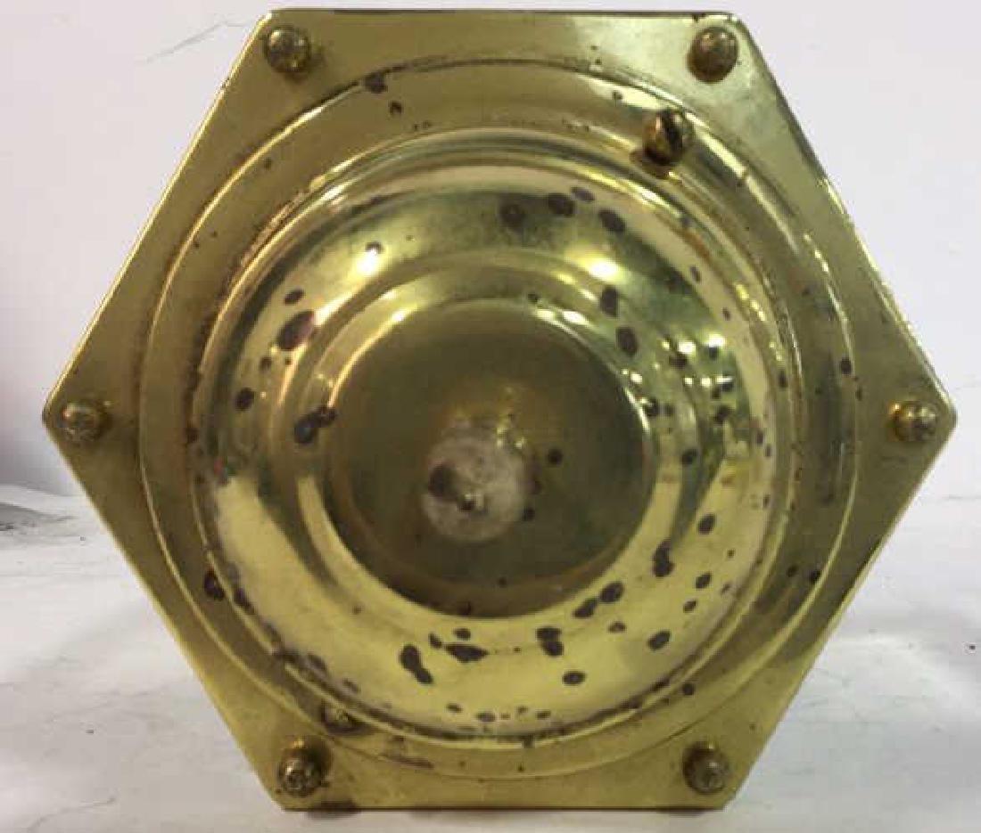 Brass Beveled Glass Vintage Ceiling Lantern - 7