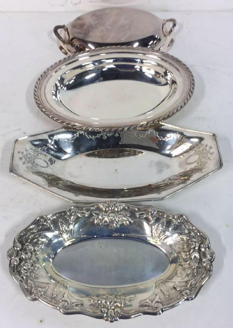 4 Piece Silver Plate Polished Vintage Group