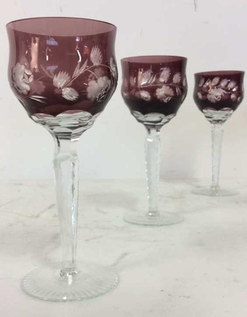 Lot 6 Bohemian Stemware Glasses - 6