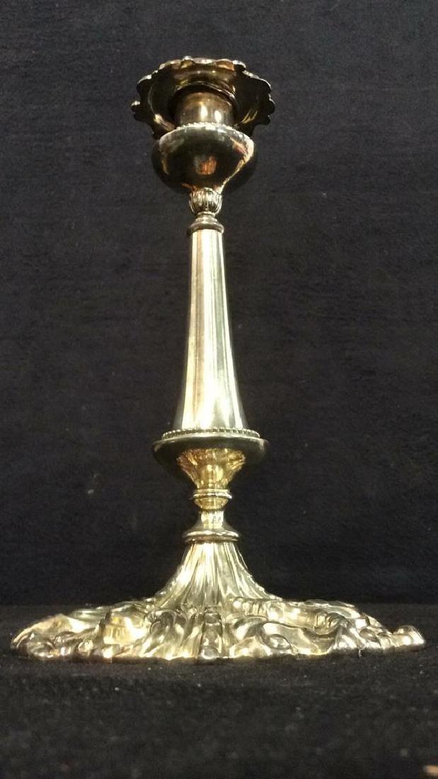 Pr VICTOR SILVER CO Ornately Detailed Candlesticks - 5