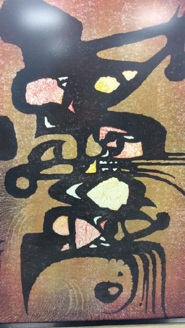 Toshi Yoshida Sosaku Hanga Modernist Woodblock - 3