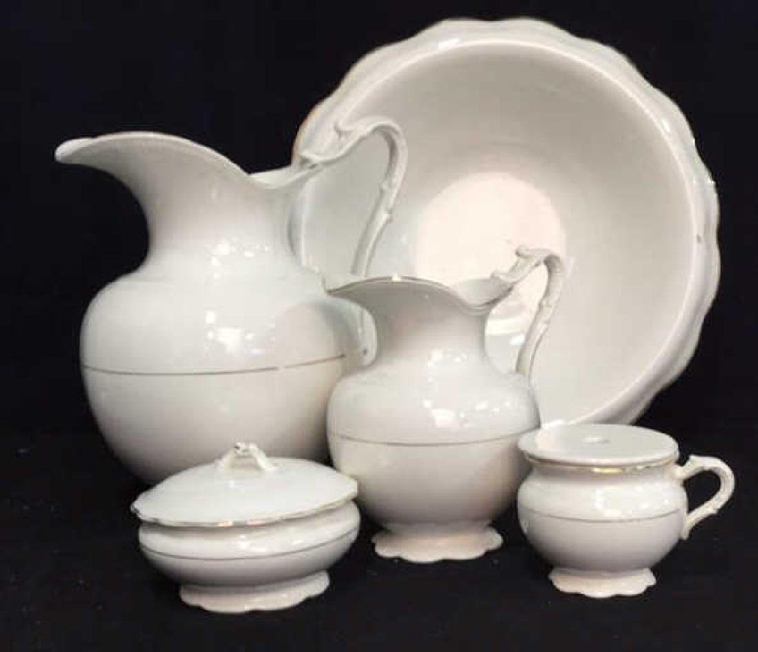 Vintage Porcelain QUEEN EP and Co Wash Basin Set