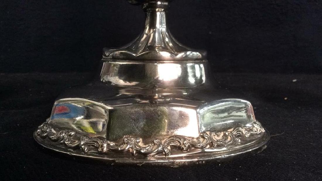 Silver Toned 4 or 5 Arm Candelabra - 10