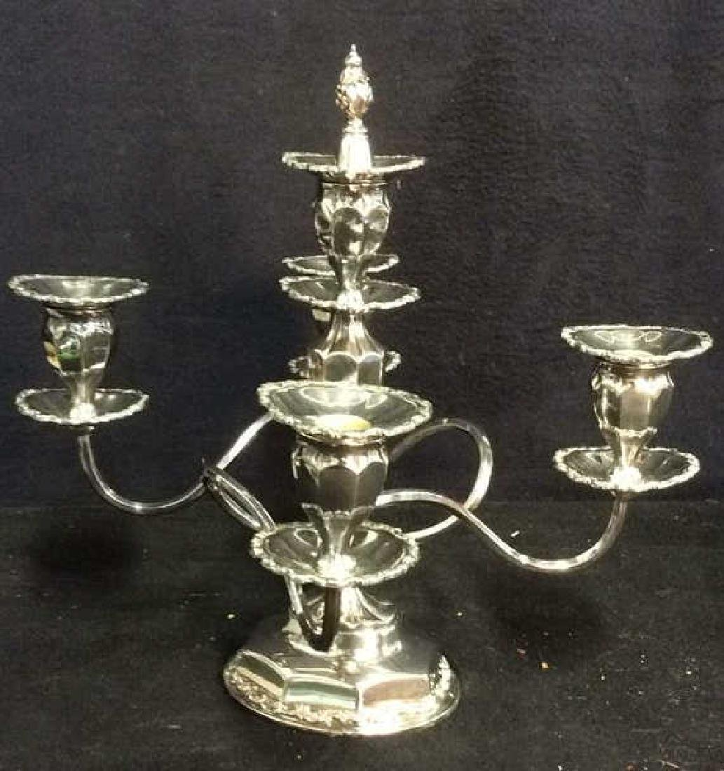 Silver Toned 4 or 5 Arm Candelabra - 2