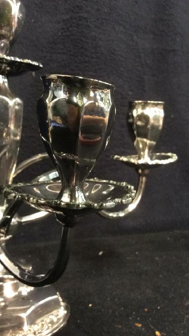 Silver Toned 4 or 5 Arm Candelabra - 7